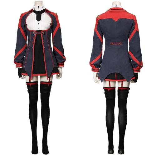 Demon King Academy-Sasha Necron Women Dress Outfit Halloween Carnival Suit Cosplay Costume