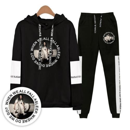Billie Eilish Casual Sports Suit Set Hoodies & Sweatshirts And Pants Suit