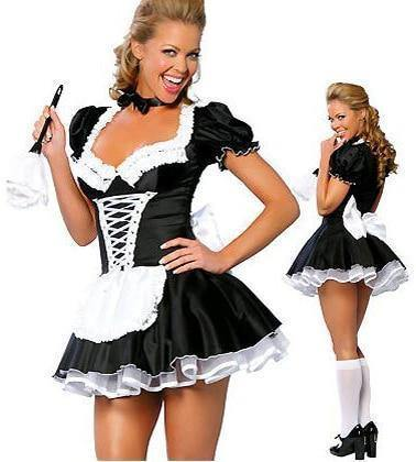 Sexy Women'S Nite French Maid Cosplay Costume Plus Size Halloween Costume For Women Exotic Servant Cosplay Costume