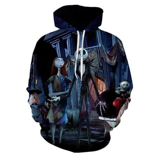 Sally Jack Sweatshirt Skellington 3D Hoodie