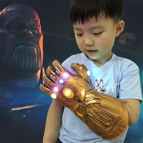 Kids Avengers Endgame  Led Pvc Thanos Gauntlet Infinity Gloves Cosplay