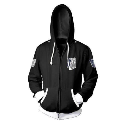 Costumebuy Attack On Titan Cosplay Jacket Shingeki No Kyojin Costume Coat Legion Battler Sweater Shirt Zipper Hoodie 5Xl