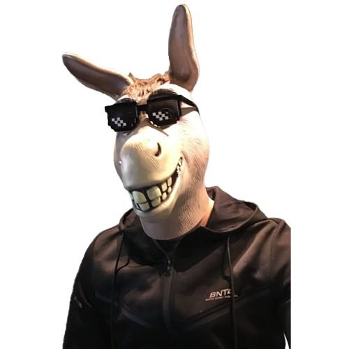 Halloween Animal Masks Grin Donkey Full Face Latex Mask