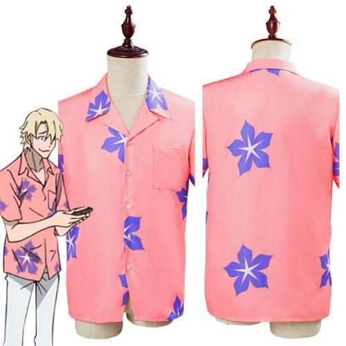 Anime Great Pretender Laurent Thierry Men Short Sleeve Shirt Halloween Carnival Costume Cosplay Costume
