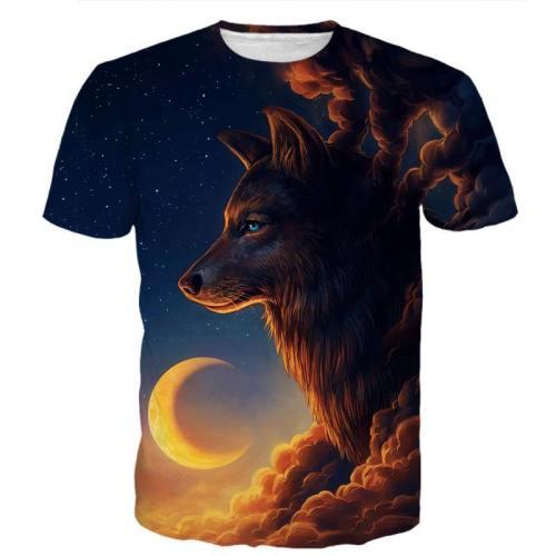 Midnight Moon Wolf Shirt