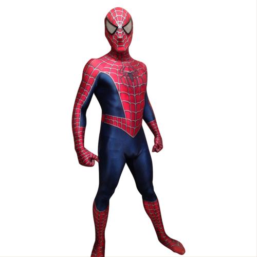 Raimi Spider-Man Peter Parker Jumpsuit Bodysuit Superhero Cosplay Costume Males Females