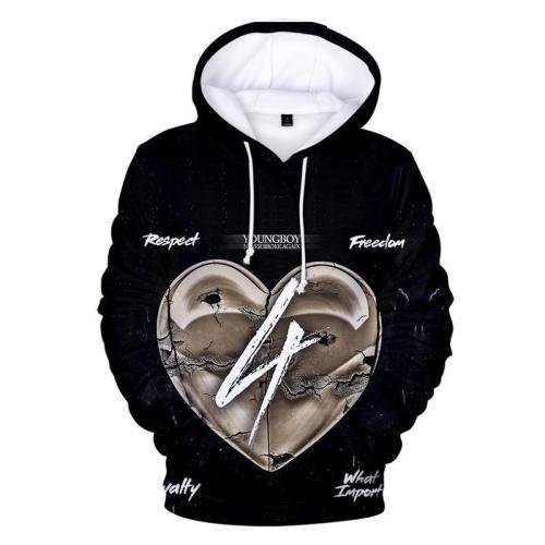 Youngboy Printed Hoodie Unisex Never Broke Again Sweatshirt