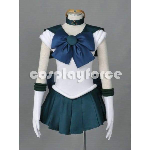 Sailor Moon Sailor Neptune  Cosplay Costume With Two Headwears