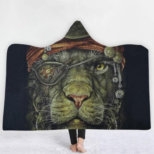 Pirate Lion Hooded Blanket