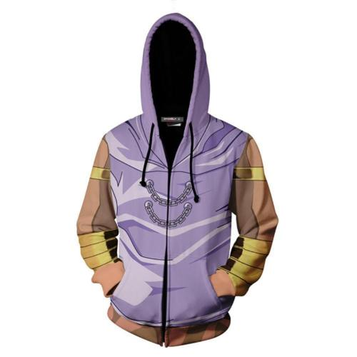 Unisex Marik Ishtar Hoodies Yu-Gi-Oh! Zip Up 3D Print Jacket Sweatshirt