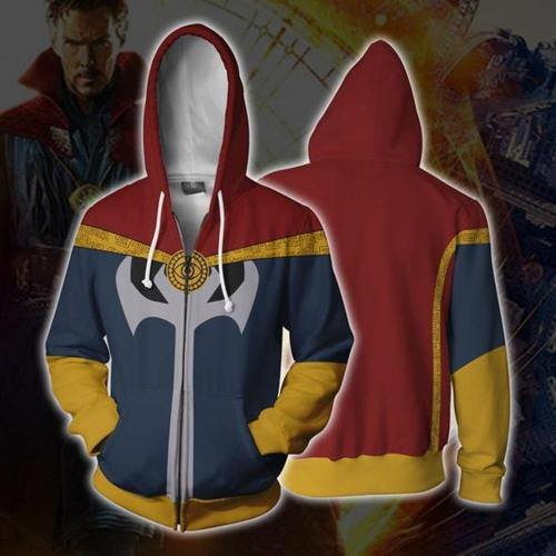 Doctor Strange Costume Sweatshirts Cosplay Men Women Sweater Clothing 3D Printed Hoodie Zipper Vest Jacket Coat 5Xl
