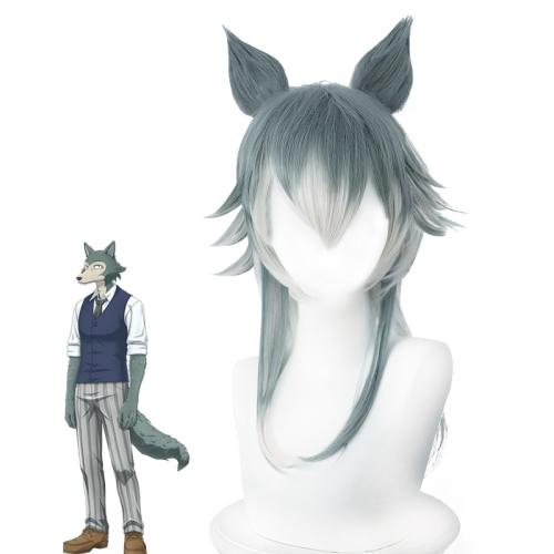 Anime Beastars Legoshi Wig With Ears Cosplay Wolf Wigs With Wig Cap