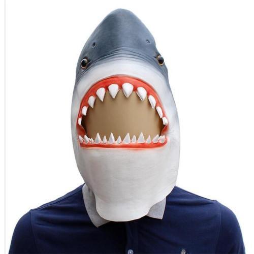 Halloween Animal Latex Helmet Adult Shark Helmet Cosplay Accessories