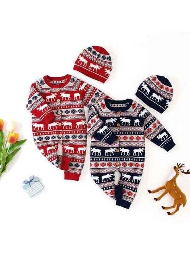 Baby Long Sleeve Ugly Christmas Jumpsuit