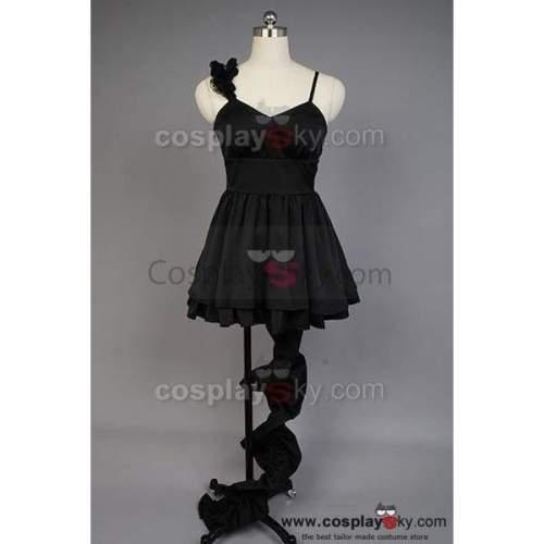Vocaloid Deep Sea Girl Miku Black Lace Dress Costume