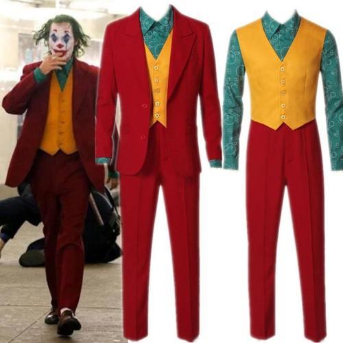 Movie Joker Joaquin Phoenix Arthur Fleck Halloween Cosplay Costume Suits