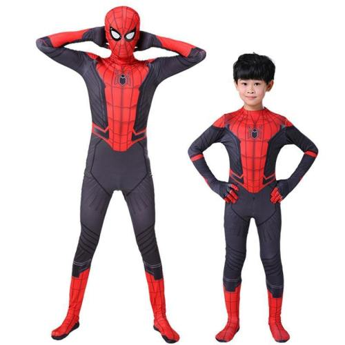 Kids Adult Spider Man Far From Home Peter Parker Cosplay Costumes