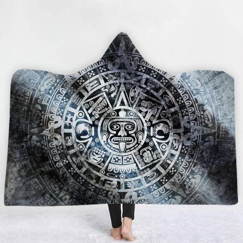 Aztec Mayan Hooded Blanket