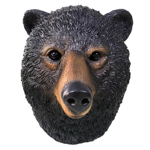 Halloween Animal Black Bear Latex Mask Props