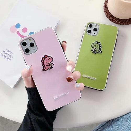 Couple Embroidered Dinosaur Phone Case