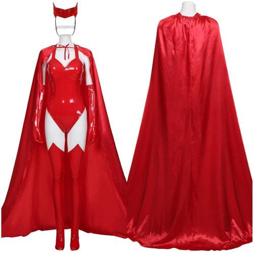 Wandavision- Sexy Scarlet Witch Wanda Maximoff Women Outfit Halloween Carnival Costume Cosplay Costume