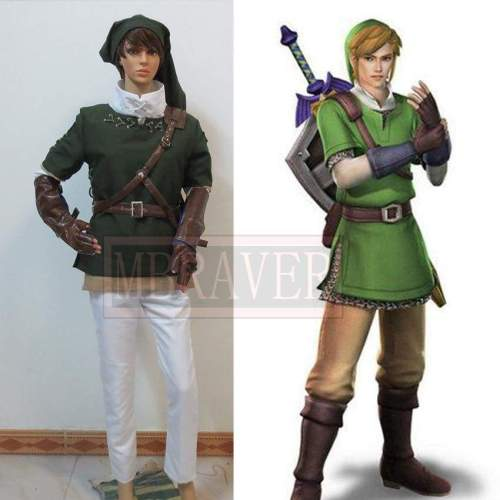 Anime The Legend of Zelda Zelda Link Cosplay Costume Fighting Uniform Full Set Customized Size