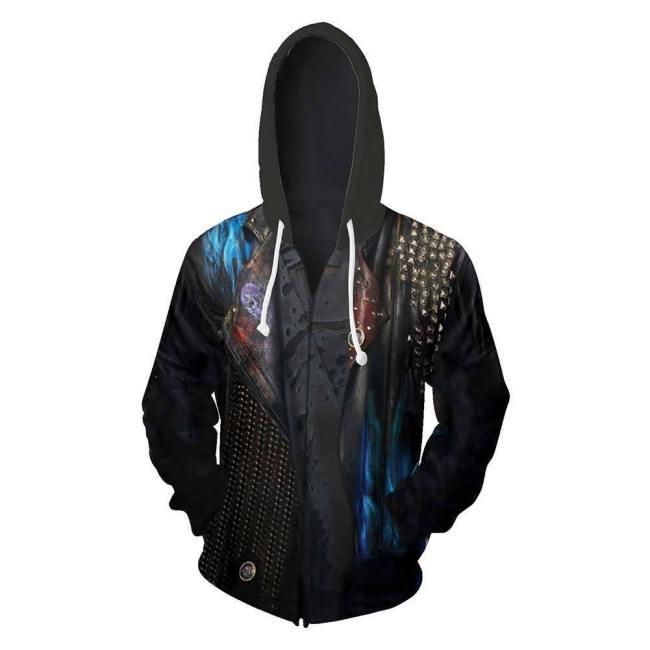 Unisex Hades Hoodies Descendants 3 Zip Up 3D Print Jacket Sweatshirt