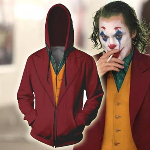 New Movie Joker Hoodie Arthur Fleck Cosplay Costume 3D Printing Sweatshirt Casual Clothes