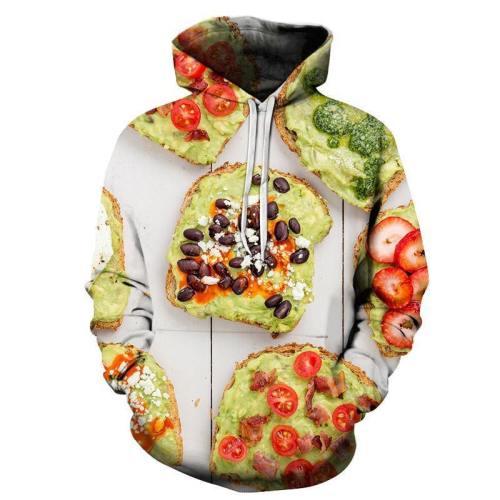 Avocado Toast 3D Sweatshirt Hoodie Pullover