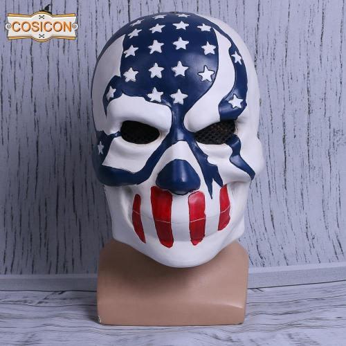 The Purge 3  Election Year American Flag Stars & Stripes Mask Halloween Cosplay Helmet