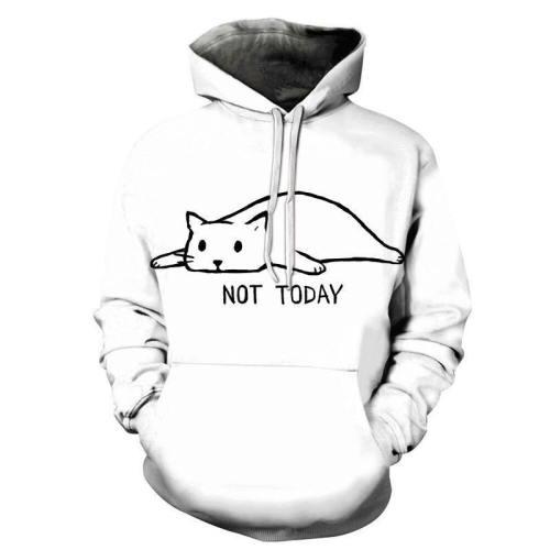 Not Today Kitten 3D - Sweatshirt, Hoodie, Pullover