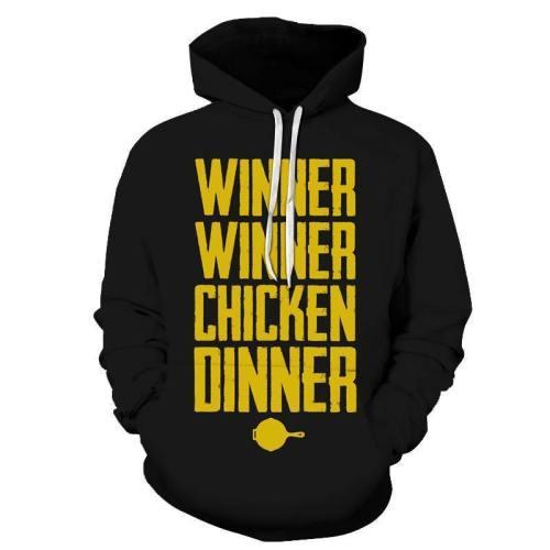 Winner Winner Chicken Dinner 3D - Sweatshirt, Hoodie, Pullover