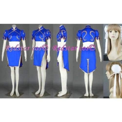 Street Fighter Halloween Cosplay Chun Li Costume Chunli - Custom made in Any size