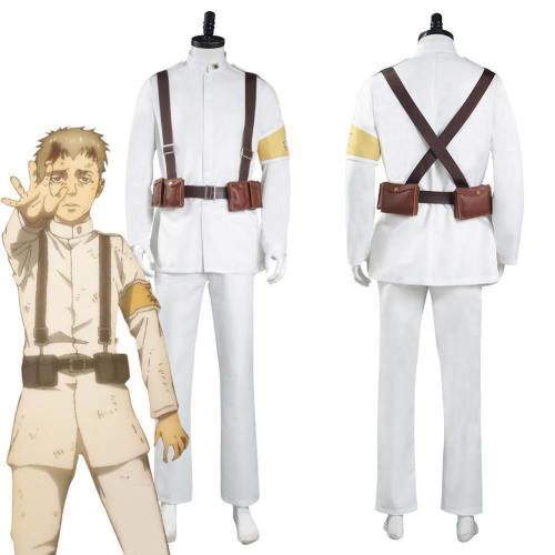 Shingeki No Kyojin Attack On Titan S4 Marley Eldian Army White Uniform Outfits Halloween Carnival Suit Cosplay Costume