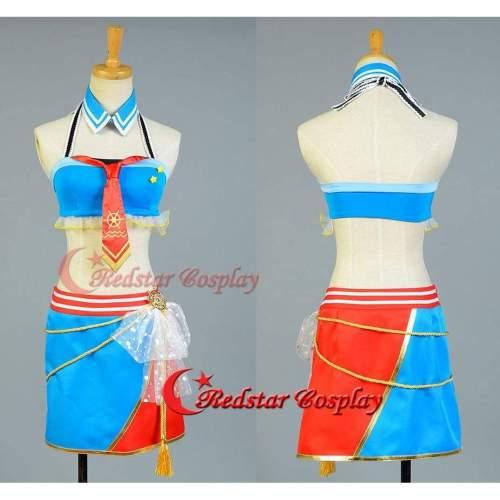 Love Live!Ayase Eli/Eri Cosplay Costume School Idol Tomodachi Navy Sailor Suit Cape