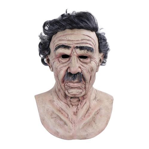 Horror Old Man Cosplay Old People Helmet Halloween Carnival Props