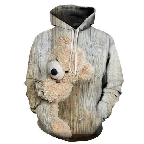 Hiding Teddy Bear 3D - Sweatshirt, Hoodie, Pullover
