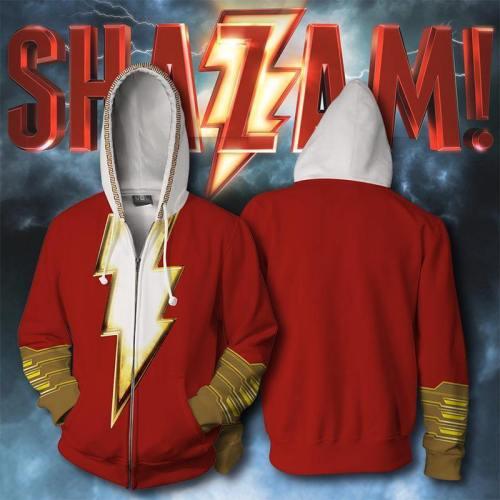 Super Hero Thunder Sazan 3D Digital Printed Guard Round Collar Hoodie