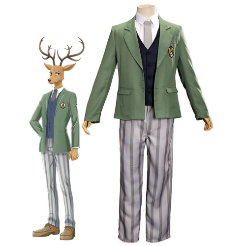 Anime Beastars Cosplay Costume Louis Deer School Uniform Outfit Sets