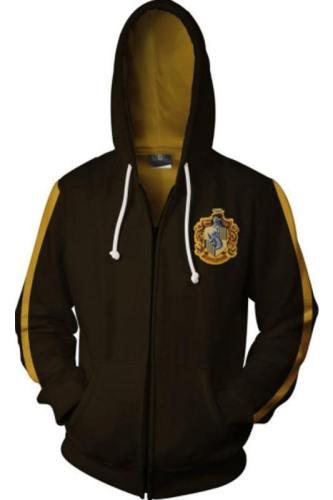 Teen Hoodie Harry Potter Hogwarts Zip-Up Sweatshirt Unisex