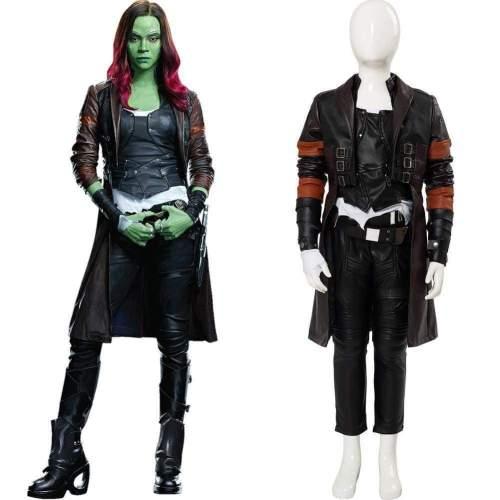 Avengers 4 Endgame Gamora Outfit Cosplay Costume For Kids Girls