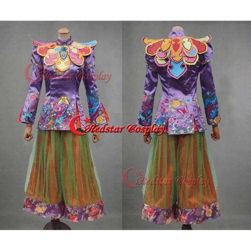 2016 Film Alice Through The Looking Glass Mandarin Cosplay Costume Alice In Wonderland --- For Both Adults And Kids