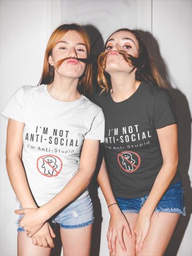 I Am Not Anti-Social  Short-Sleeve Unisex T-Shirt (White)