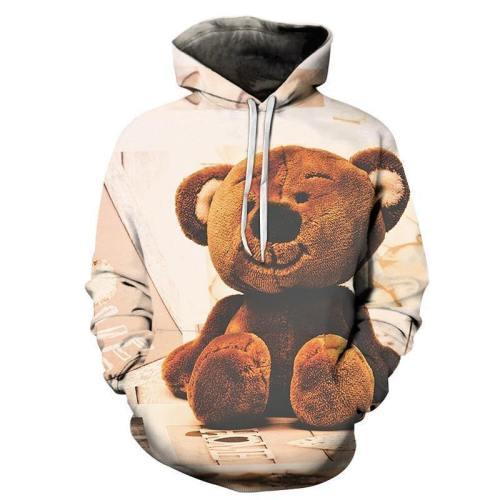 Cute Teddy Bear 3D - Sweatshirt, Hoodie, Pullover