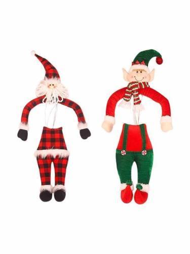 Christmas Tree Elf Santa Claus Hanging Decorations Doll
