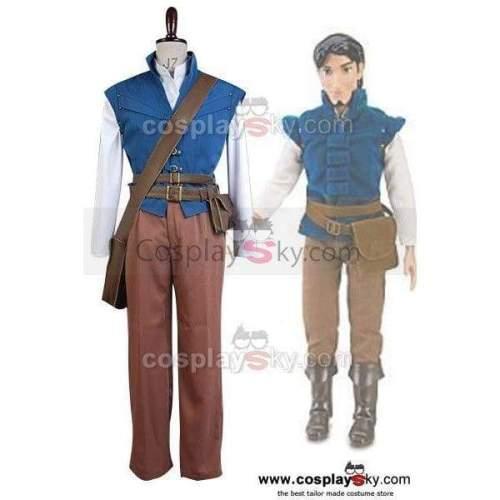 Tangled Prince Flynn Rider Eugene Fitzherbert Cosplay Costume
