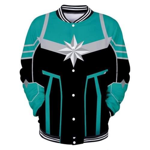 Captain Marvel Jacket - Carol Danvers Baseball Jacket