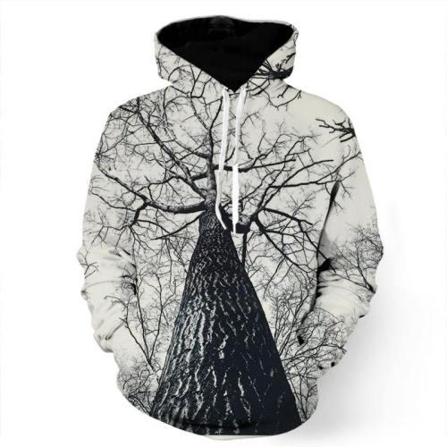 Haunted Black And White Tree Sweatshirt/Hoodie