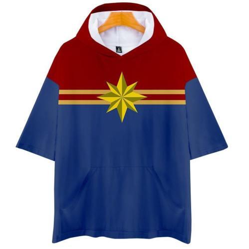 Captain Marvel T-Shirt - Carol Danvers Graphic Hoodie T-Shirt Csos943