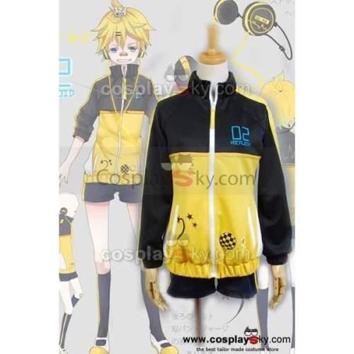 Vocaloid Len Project Diva Sport Suit Cosplay Costume